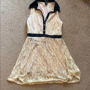 Cream Lace Wet Seal Dress